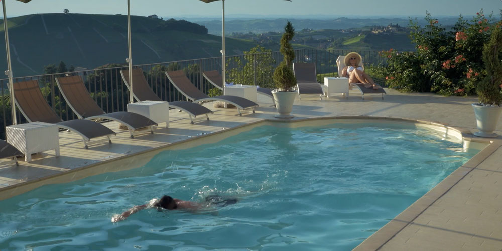 Ristorante con piscina nelle langhe